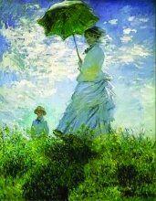 La passeggiata donna con parasole